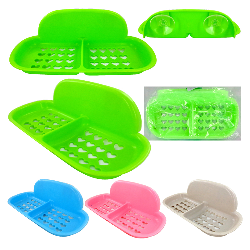 SOAP wall tray with suction cup holder
