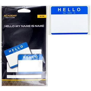 Hello My Name Is Name Badge Labels