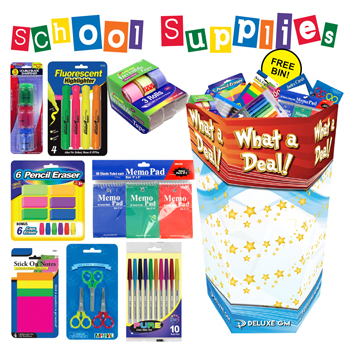 Stationery + School Dump Bin 192 PC