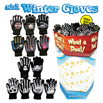 Adult Gloves 192 PC Display
