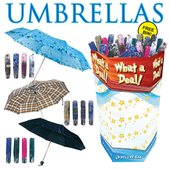 Umbrella Assortment 120 PC Dump Display