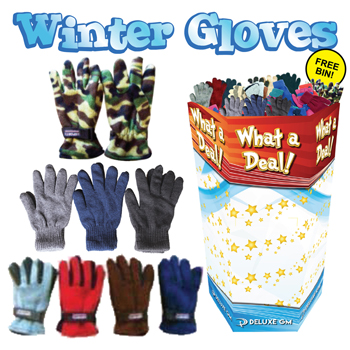 Winter Gloves 120 Pc Display