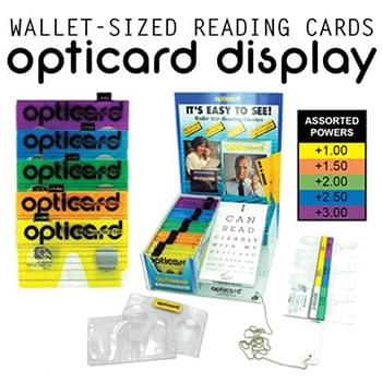 Optic Reader Card 200 Pc Display & Tester