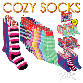 Cozy Socks Asssortment 216 Pc Display
