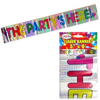 Party Is Here Banner