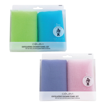 2 Pack Exfoliating Towels