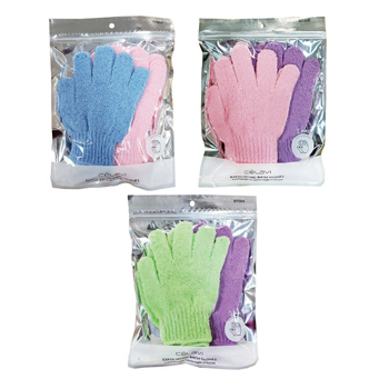 Bath  Exfoliating Gloves 2 Pairs