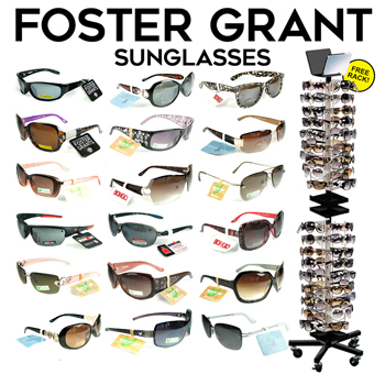 300pc Foster Grant Sunglasses with Display