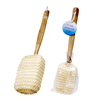 "15"" Wooden Handle Bath Brush"