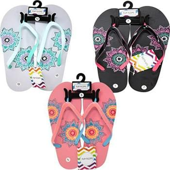 Ladies Flip Flop Sandals Size 4-10