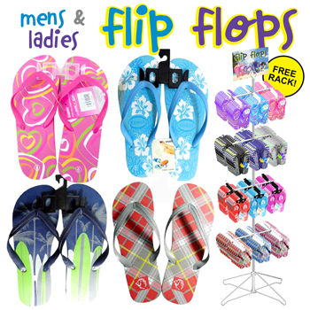 Men's and Ladies Flip Flop 144pc display