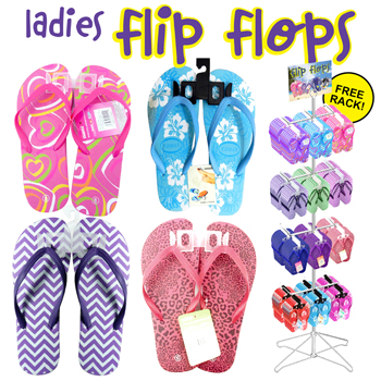 Ladies Flip Flop 144pc display