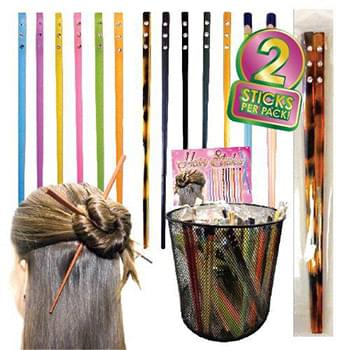 Hair Chopsticks 2 Pack With Studs