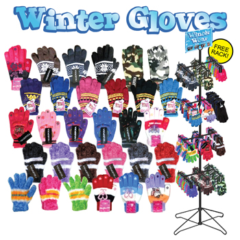 Winter Gloves 288 Pc Display
