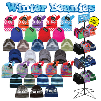 Winter Beanies 192 Pc Display