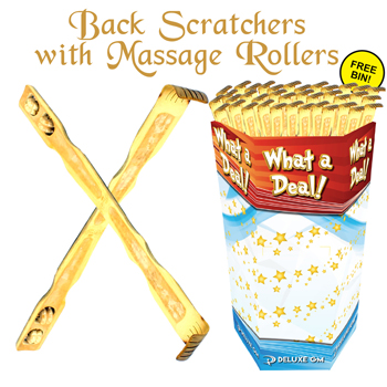 Back Scratcher 3 wheels 144pc display