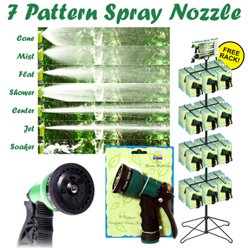 72pc Hose Nozzle 7 setting display