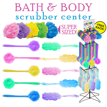 144pc Bath & Shower Brushes & Sponges