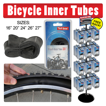 120pc Bicycle Tubes Display