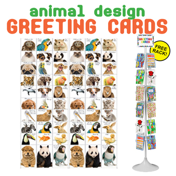 720pc Animal Greeting Card Display