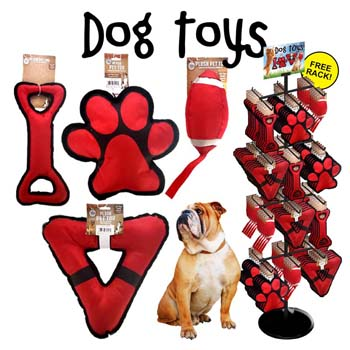 96pc Jumbo Nylon Pet Toy Display