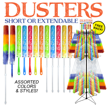 144pc Multi duster display