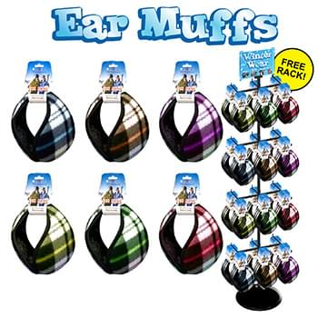 144pc Earmuff display assorted styles