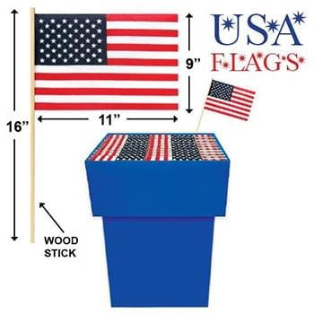 Usa Flag With Wood Stick 960 Pc