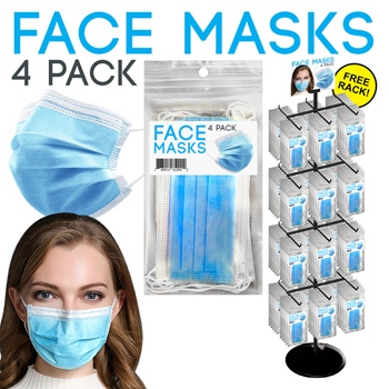 288PC 4 Pack Face Mask Display