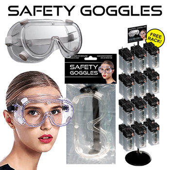 200 Pc Safety Goggles Display