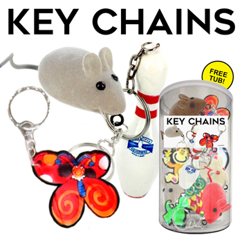 144pc Mixed Keychains Tub