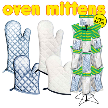 144pc Oven mitten display