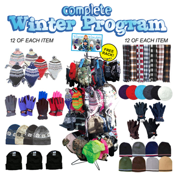 96pc complete winter assortment display