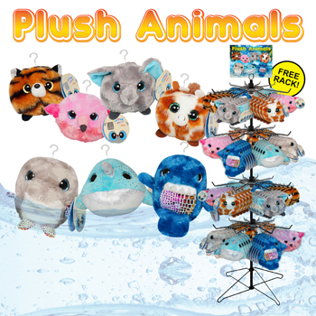 "192pc 3"" Plush Animal Display"