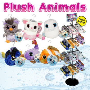"144pc 5"" Plush Animal Display"