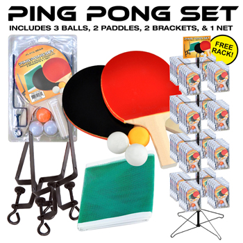 72pc Table Tennis Set Display