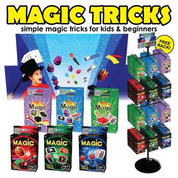 144pc Magic Trick Games with Display