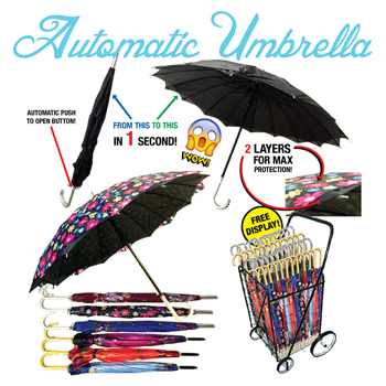 Automatic Umbrella 60 Pc Display