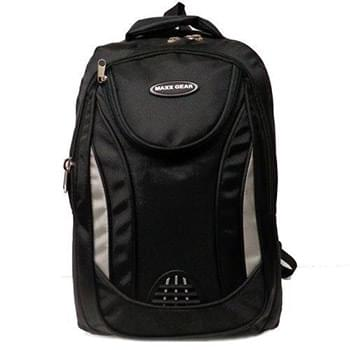 "18"" Black BackPack 3 Compartments"