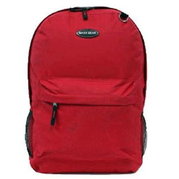"16"" Red BackPack With  2 Pockets"