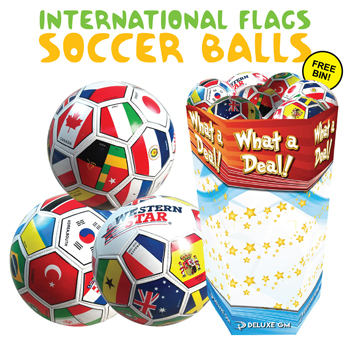 30 pc International Flag Soccer Ball