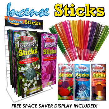 36pc Incense Sticks Display. 60 pack 12 flavors