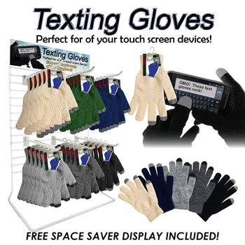 36pc Magic Texting Gloves Counter Display