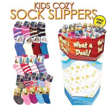 240pc Kids Cozy Sock Display