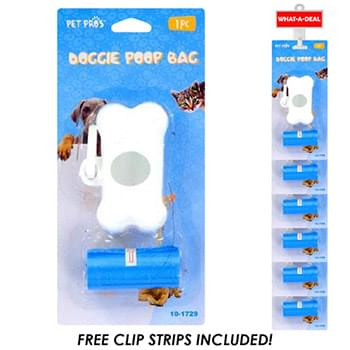 24pc Doggie Poop Bags with 2 clip strips