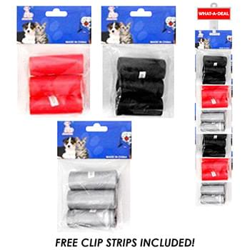 24pc Doggie Clean Up Bags with 2 clip strip