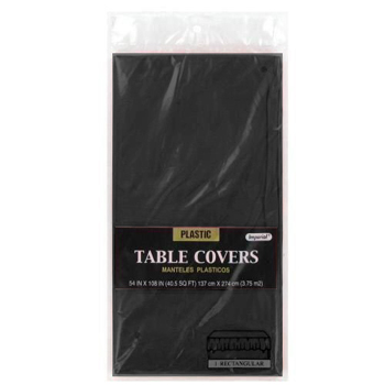 "Black Table Cover 54"" x 108"""