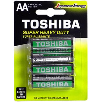 AA Toshiba batteries - 4pk