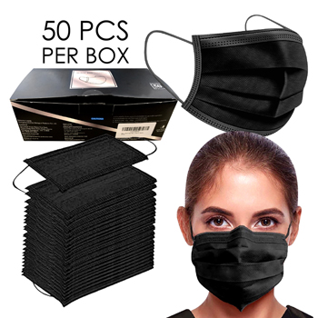 Black Face Mask 3 PLY