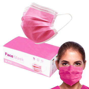 3 Ply Pink Face Mask
